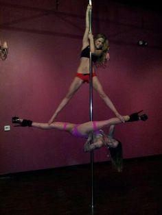 Partner Pole Dance Jade Split, Unleashed Fitness, Upland, CA