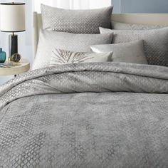 Washed Diamond Luster Velvet Duvet Cover + Pillowcases