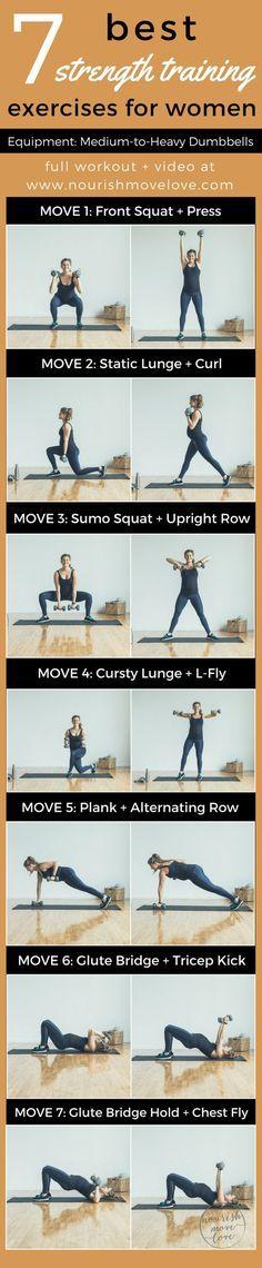 7 Best Strength Training Exercises for Women   www.nourishmovelove.com