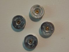 12ga Shotgun Shell Magnets Set of 4 by AbandonedRhinestones on Etsy