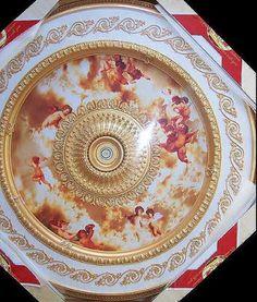 Celestial Cherubs Ceiling Medallion Round Michelangelo