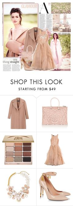 """Anne Hathaway for Glamour UK"" by beautifully-eclectic ❤ liked on Polyvore featuring Rochas, Valentino, Stila, Halo & Co., Tom Ford, AnneHathaway, celebstyle and glamourmagazine"