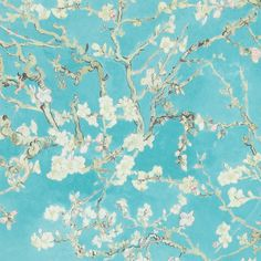 "Found it at AllModern - Van Gogh Blossoming Almond Trees  33' x 20.8"" Floral and Botanical Plaster Wallpaper"