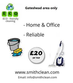 We are a family owned cleaning service, passionate about our environment in general; We clean homes, home offices and those aftermaths – left behind after a big together parties throughout the Gateshead area.