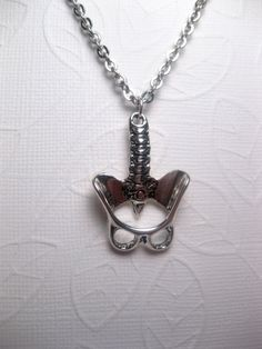 Skeleton Anatomical Pelvis Human Spine Necklace