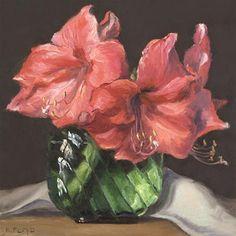 """""""Amaryllis"""" - Original Fine Art for Sale - ©Elizabeth Floyd"""