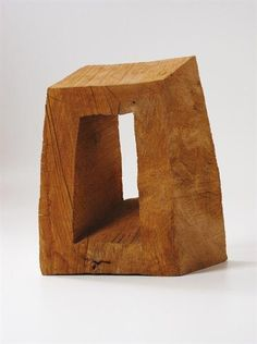 David Nash - Askewed Frame, 1999, Oak