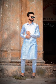 Check kurta shabaz design