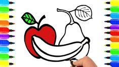 Đồ Chơi Tô Màu, Tô Màu Hoa Quả, Vẽ Tranh và Tô Màu Hoa Quả, How to Draw ...