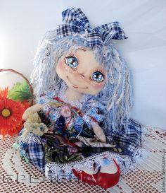 Купить Текстильная интерьерная кукла Синеглазка Фея фей. - интерьерная кукла, текстильная кукла