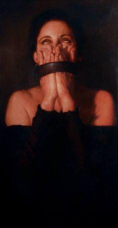 """""""La Escapista"""" - Oil painting by Alejandro Barrón"""