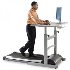 Make your coworkers jealous while you walk and work with the TR5000-DT5 Treadmill Desk - $2,499