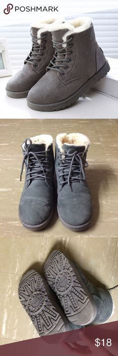 Snow Warm Winter Angle Boots Condition: 7/10  🎉🎉Free!! A pair of socks for any purchase💓💓 Shoes Ankle Boots & Booties