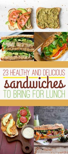 23 healthy and delicious sandwiches to bring for lunch