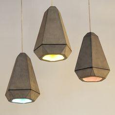 Portland concrete pendant lamp by James Bartlett