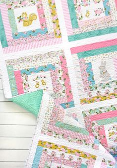 Milk and Honey – Courthouse Steps Quilt Quilt Baby, Baby Quilt Size, Baby Quilt Patterns, Baby Girl Quilts, Girls Quilts, Children's Quilts, Baby Bedding, Panel Quilts, Quilt Blocks