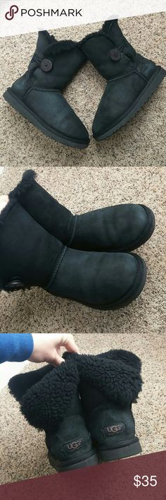 Uggs short button Super cute in pretty good condition has some fadidng but not as bad. These are used not new. Please look at pictures of the condition UGG Shoes