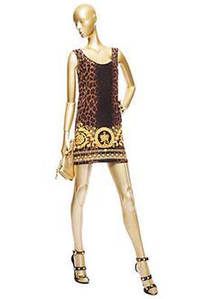 Versace - Silk Barocco Animalier Dress