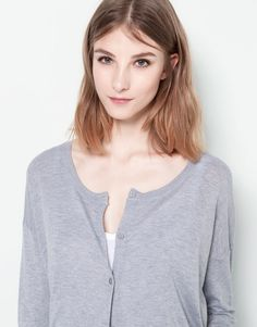 :BASIC SCOOP NECK JACKET