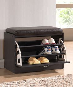 Another great find on #zulily! Espresso Shoe Rack Bench #zulilyfinds