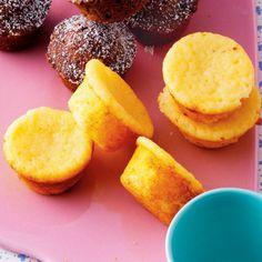 Quark-Mini-Muffins - u mve - Pin Cornbread, Nom Nom, Protein, Cheesecake, Food And Drink, Tasty, Herbs, Cookies, Breakfast