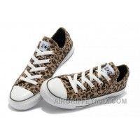 a8eeb3fbd82c40 Discount Brown CONVERSE All Star Leopard Print Rock N Roll Canvas Women  Shoes