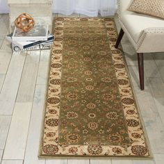 Ivanhoe Green Rug Rosalind Wheeler Rug Size: Runner 66 x Living Room Size, Autumn Interior, Hallway Runner, Indian Rugs, Traditional Rugs, Color Pallets, Interior Design Inspiration, Rug Size, Persian