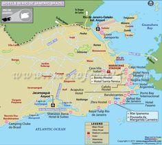 Rio De Janeiro Olympics Map