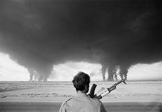 An Iraqi soldier watches as the Iranian Abadan refinery burn Iran 1980 [822x569] http://ift.tt/1ropolr