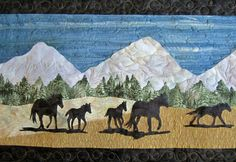 First of all I have to say that I love this quilt and was so excited when my client brought it to me. I can not imagine the time that . Bring It To Me, Free Horses, Applique Quilts, Sewing Techniques, Applique Designs, Moose Art, Quilting, Fabric, Fun