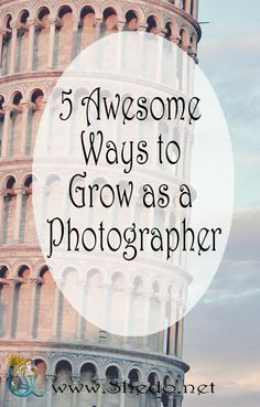 """5 Awesome Ways to Grow as a Photographer Often beginners in photography are asking me the same question – """"How can I become more creative as a photographer?"""" #photography#beginner#howto#photographypose#photographertips"""