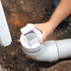 Ready for your next home improvement challenge? A dry well diverts roof runoff and makes for a less slippery yard and walkway. Backyard Drainage, Gutter Drainage, Drainage Solutions, Drainage Ideas, Dry Creek Bed, Plumbing Installation, French Drain, Dry Well, Home Fix