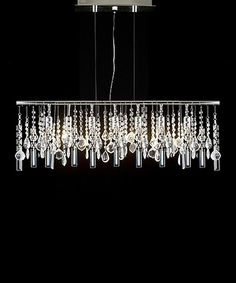 Half off Gorgeous long rectangle chandelier pendantight // Modern Linear Crystal Chandelier by Gallery Lighting