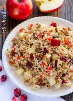 Quinoa Salad with Apples, Cranberries, Pecans
