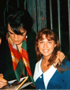 Elvis and Sandi Miller. Sandi started off as a fan but then became a good friend to Elvis