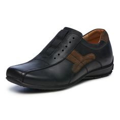 Butane is a sporty casual oxford styled slip onin natural oily burnished leathers.