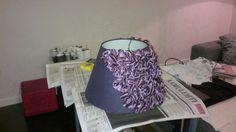 Remodelaholic | Custom Made Lamp Shades With Ribbon Ruffles
