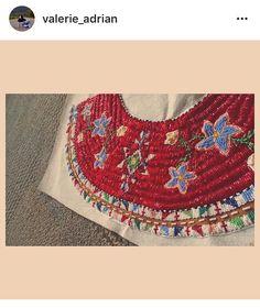 Valerie Adrian Beading Ideas, Beading Projects, Beading Patterns, Native Beadwork, Native American Beadwork, Beaded Cape, Powwow Regalia, Bead Sewing, Leather Crafts