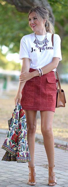 'je T'aime' Tshirt Outfit Idea by Mi Aventura Con La Moda