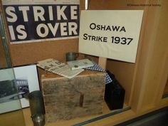 Oshawa 1937 Strike - outreach exhibit at the Oshawa Public Library, 2012 General Motors, Exhibit, Public, Blog, Blogging