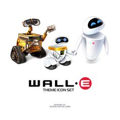 wall e, eve and their child, e ric.  pixar should do a movie of this!!