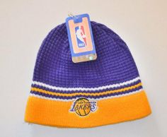 Los Angeles Lakers ShowTime Skull Cap - NBA LA Cuffless Beanie Toque Hat by Adidas. $15.39. Show your Laker pride with this Vintage Old School skull cap from Adidas.. Save 33%!