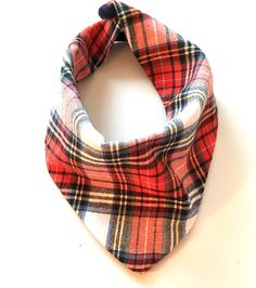 A personal favorite from my Etsy shop https://www.etsy.com/listing/256891935/green-red-flannel-baby-bandana-scarf-bib