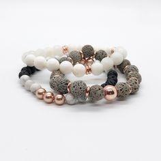 Loving this Rose Gold Stack! Beaded Jewelry, Jewelry Bracelets, Jewelery, Silver Jewelry, Handmade Jewelry, Silver Bracelets, Silver Ring, Silver Earrings, Bracelet Making