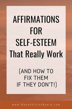 At one time or another we all struggle with low self-esteem. Find out all about this common problem and how this list of affirmations can be a useful tool for boosting your self-esteem. We'll even show you how to fix affirmations that aren't working for you.