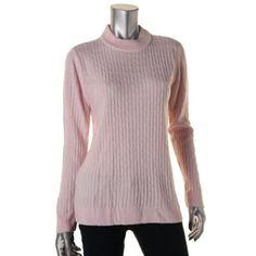 Karen Scott Womens Petites Mock Turtleneck Knit Pullover Sweater, Women's, Size: PL, Pink