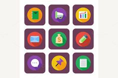 Business and Office Icons by robuart on Creative Market