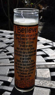 A #Saints prayer candle