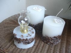 White Cappuccino candles