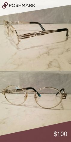 Jean Paul Gaultier frames Vintage 1980's used 56-6106. Has a few scratched on sides. Jean Paul Gaultier Accessories Glasses